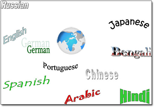 World Languages - List of most spoken languages in the world