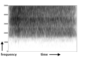 Spectrogram of author saying /sh/
