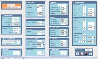 CVE3 assessment data screen