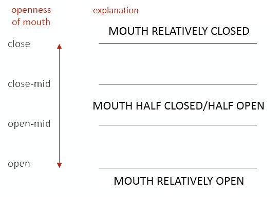 Degrees of mouth openness
