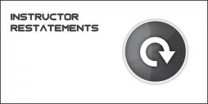 ca101 instructor restatements