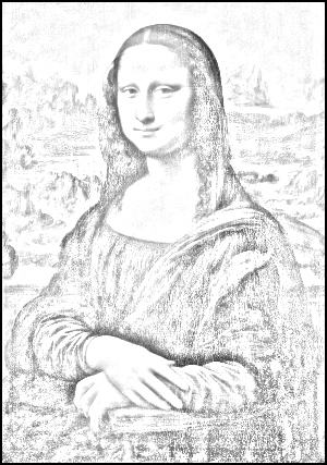Mona Lisa sketch