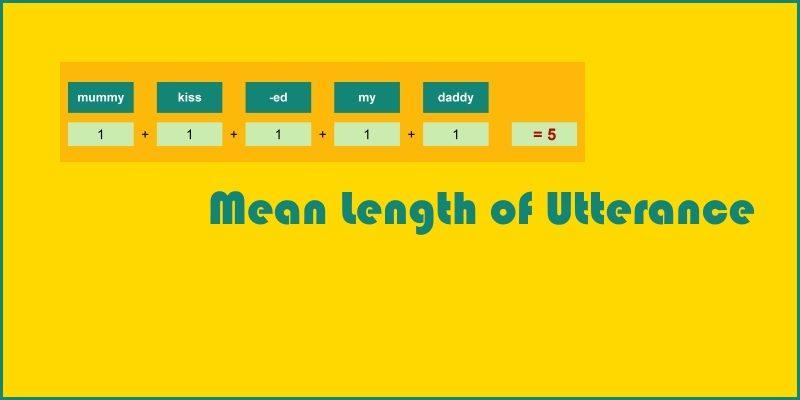 mean length of utterance header