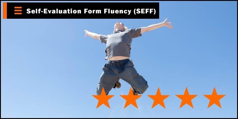 self-evaluation form fluency header