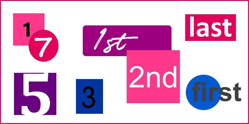 numerals header