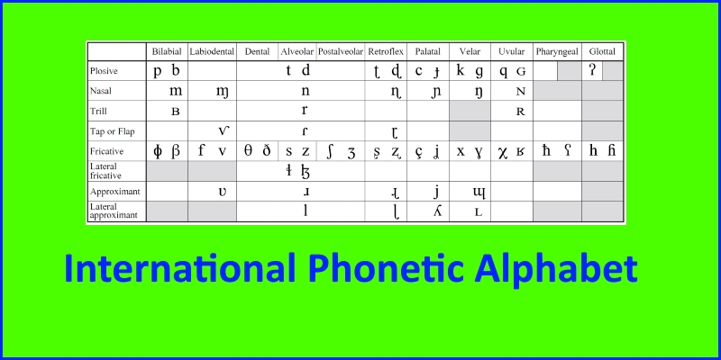 International Phonetic Alphabet Slt Info