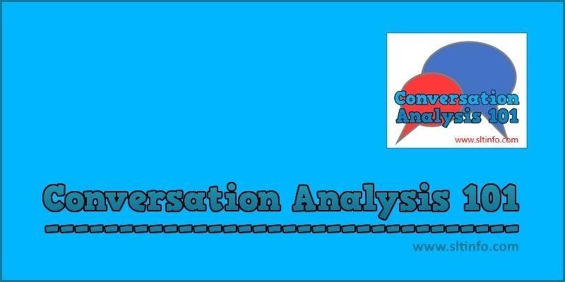 conversation analysis 101 header