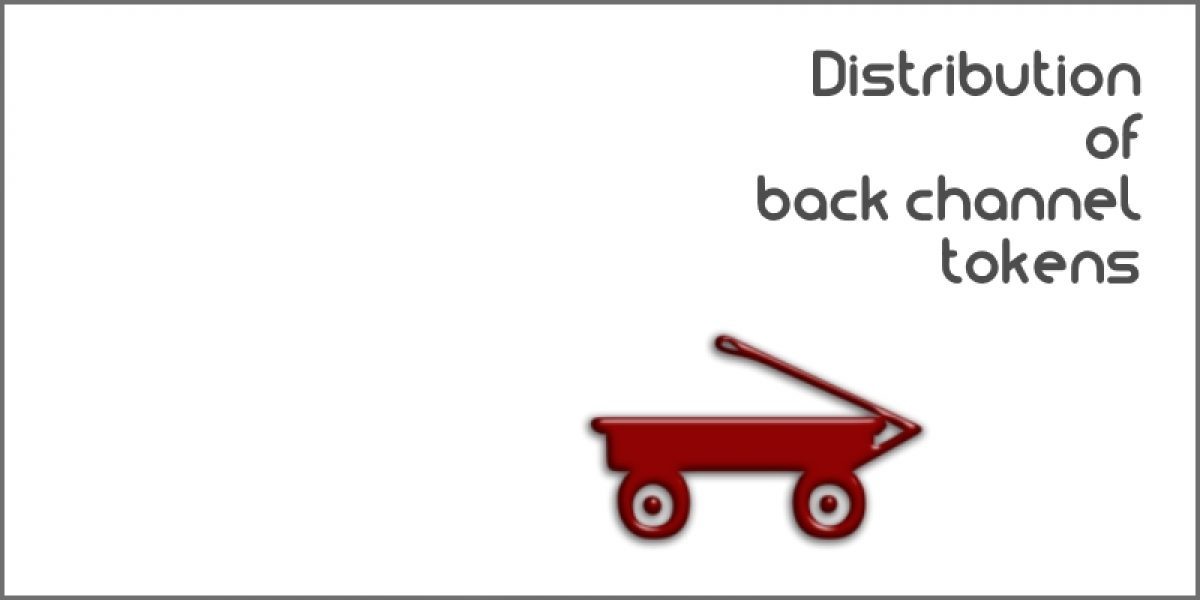 Distribution of Back Channel Tokens