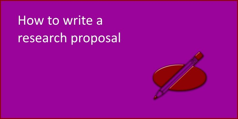 how to write a research proposal header