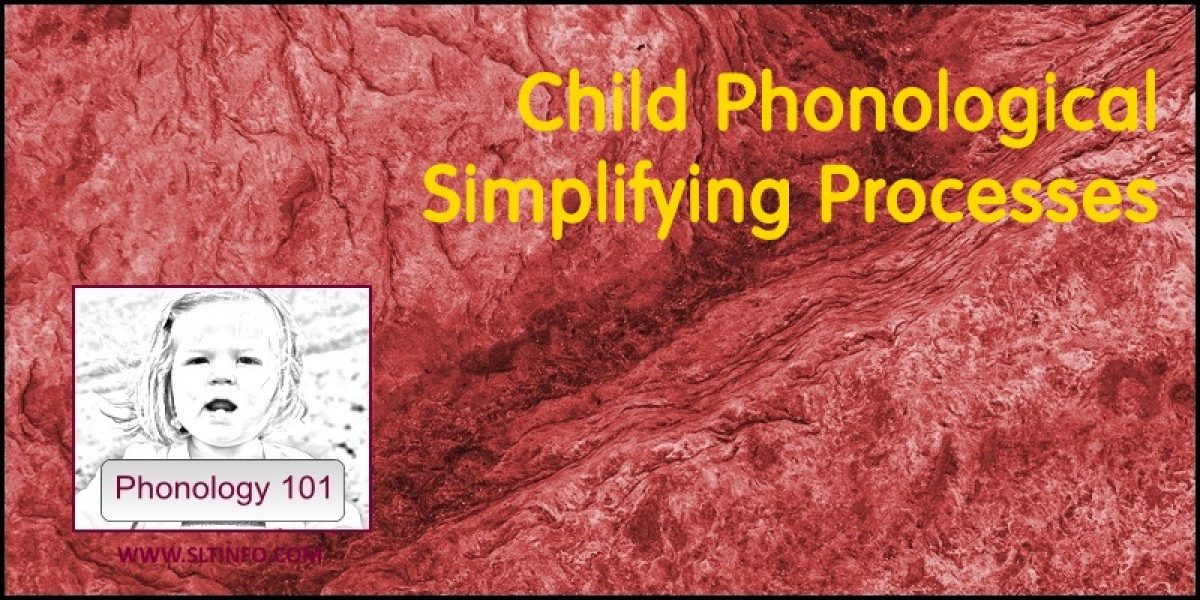 Child Phonological Simplifying Processes