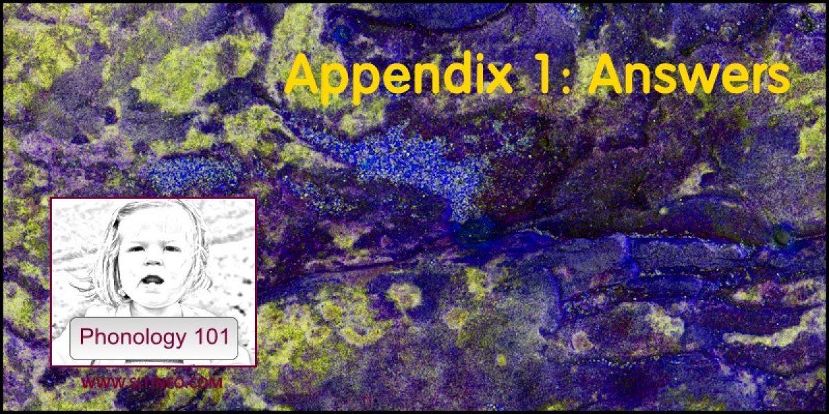 Appendix 1: Answers