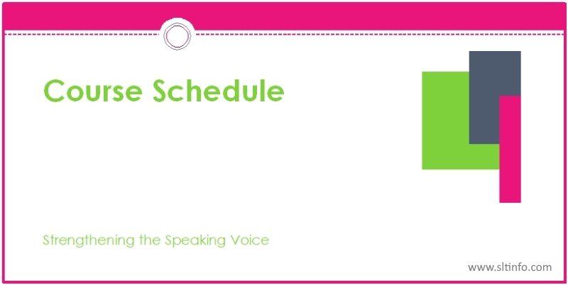 ssv course schedule