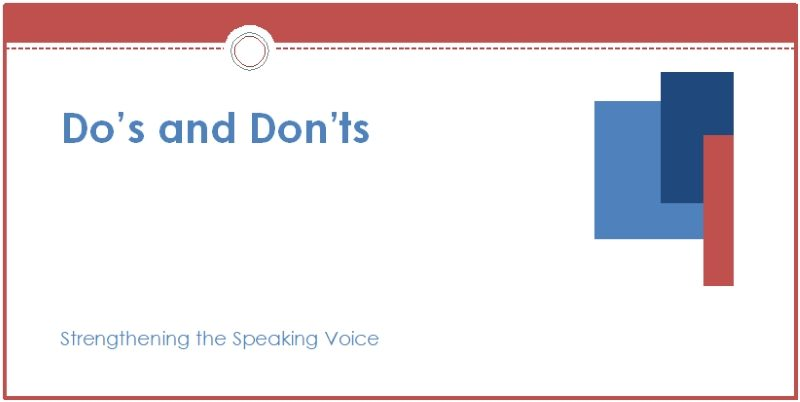 ssv do's and don'ts