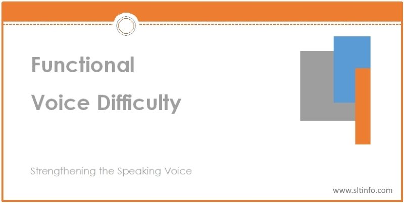 ssv functional voice difficulty