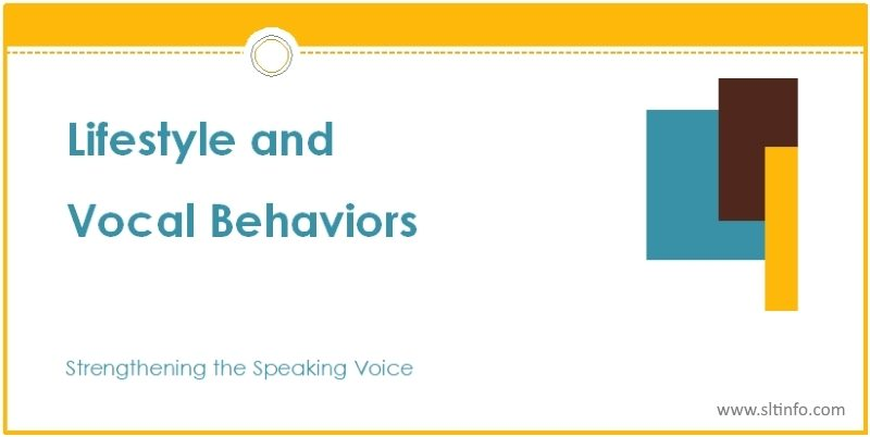 ssv lifestyle and vocal behaviors