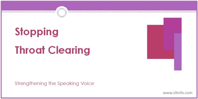 ssv stopping throat clearing