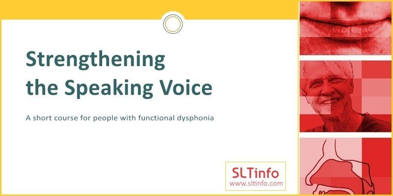 ssv strengthening speaking voice overview