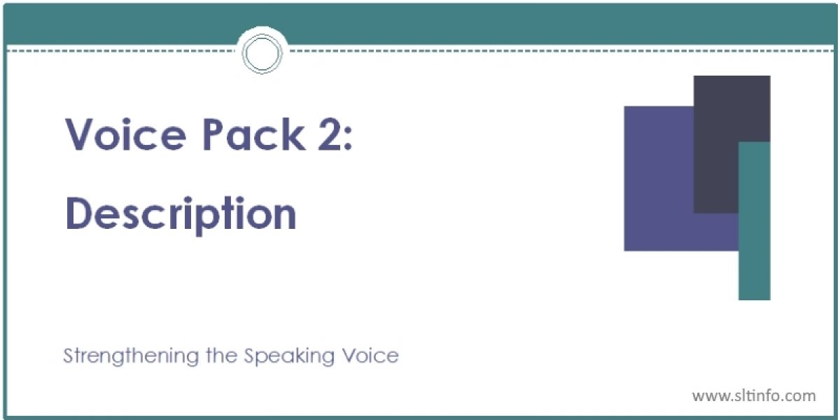VOICE PACK 2: DESCRIPTION