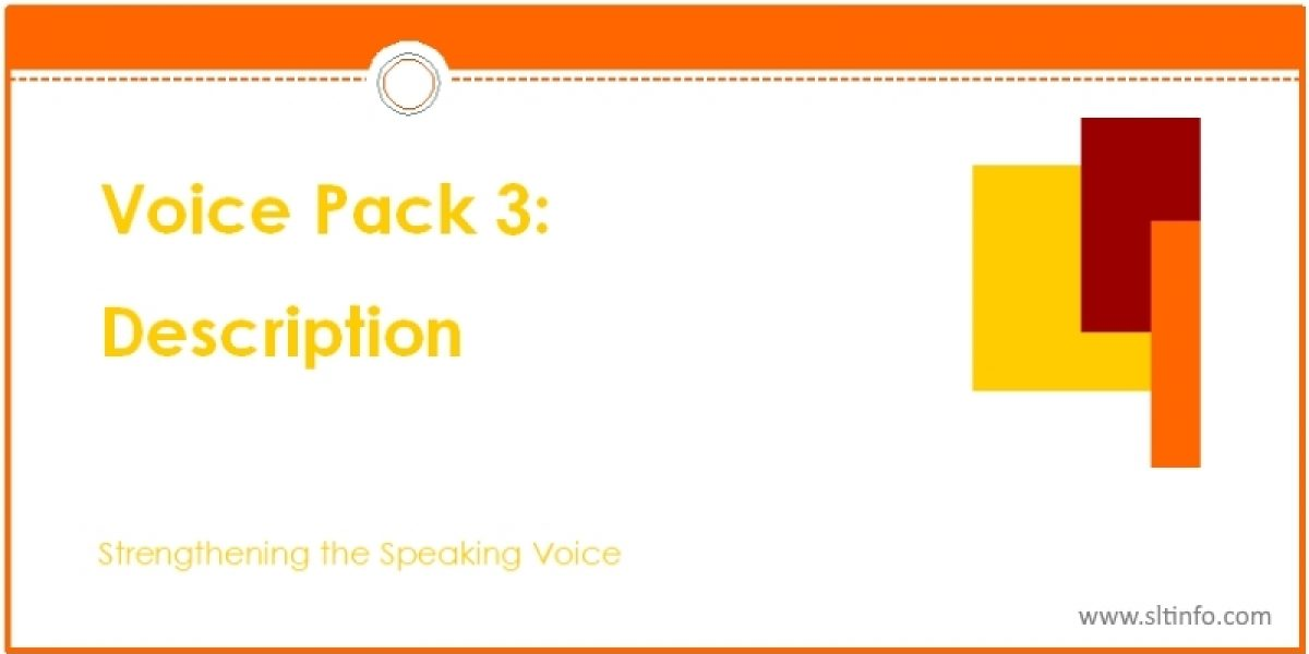 VOICE PACK 3: DESCRIPTION