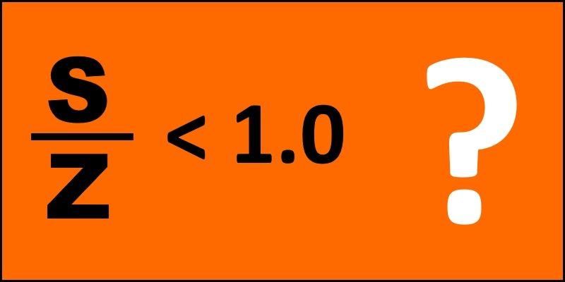 s-z ratio below 1.0 header